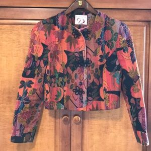 Vintage Chanel style jacket in tapestry fabric.
